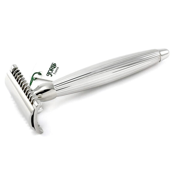 Joris Palladium Plated Classic Open Comb Double-Edge Safety Razor, Lined Handle - Fendrihan Canada - 1