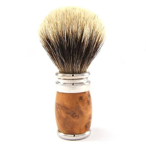 Joris European White Badger Shaving Brush, Thuja Wood - Fendrihan Canada