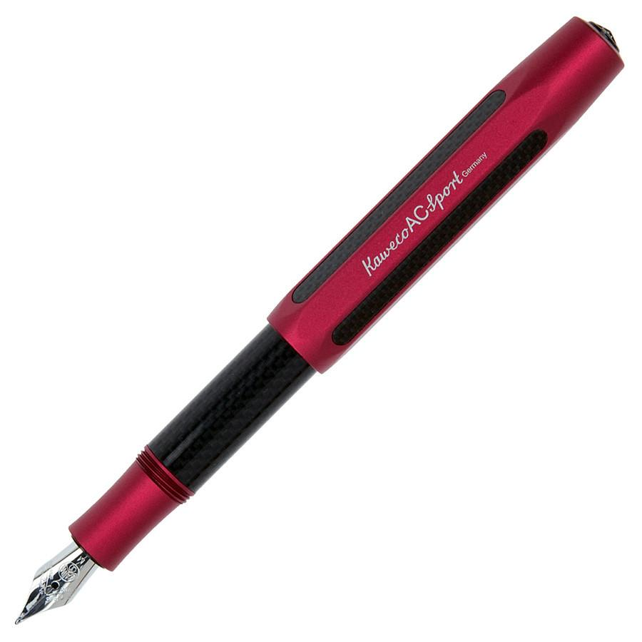 Kaweco AC Sport Carbon Fountain Pen, Red Jubilee Edition Fountain Pen Kaweco