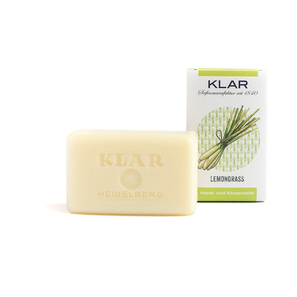 Klar's Classic Hand Size Soap, Palm Oil-Free Body Soap Klar Seifen Lemongrass