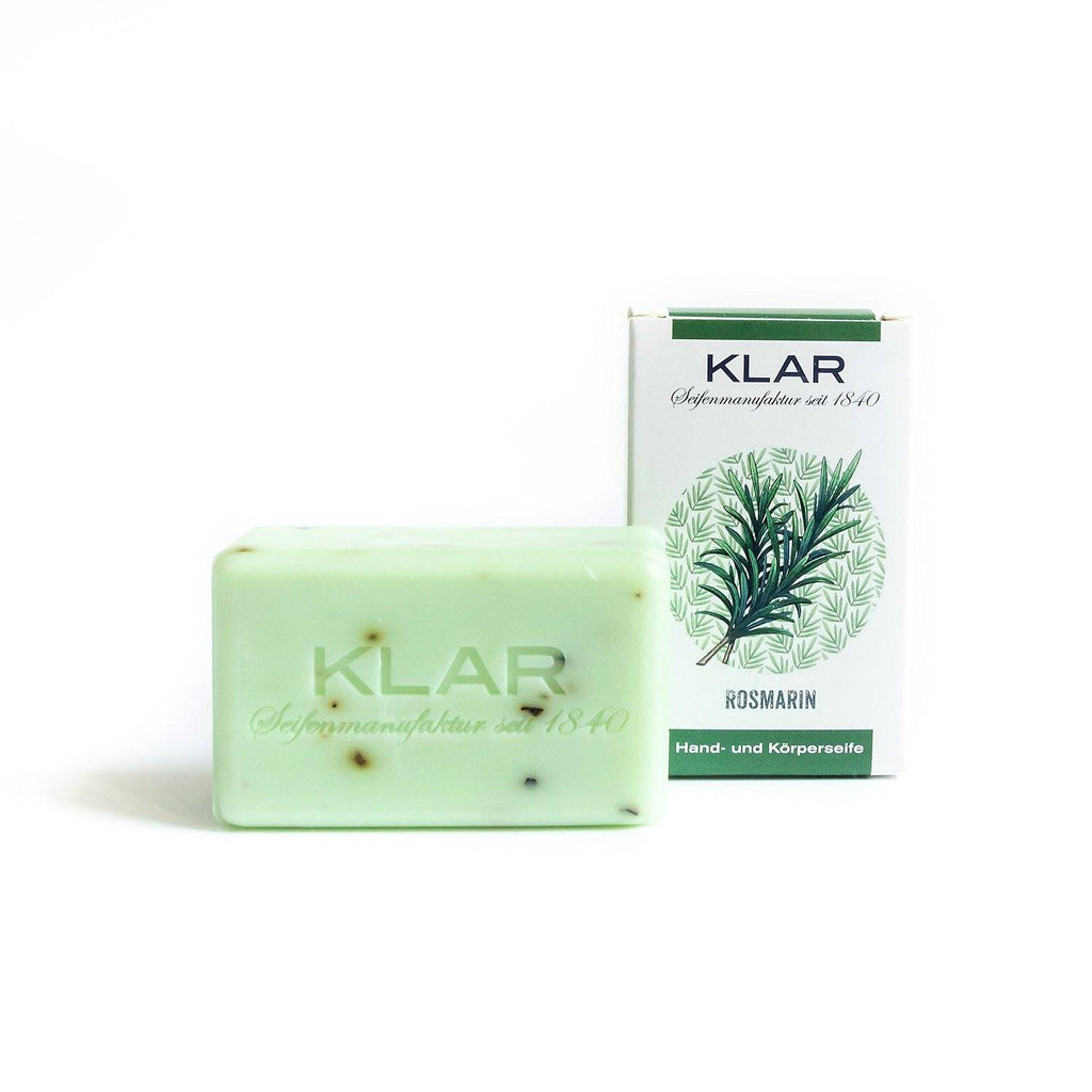 Klar's Classic Hand Size Soap, Palm Oil-Free Body Soap Klar Seifen Rosemary