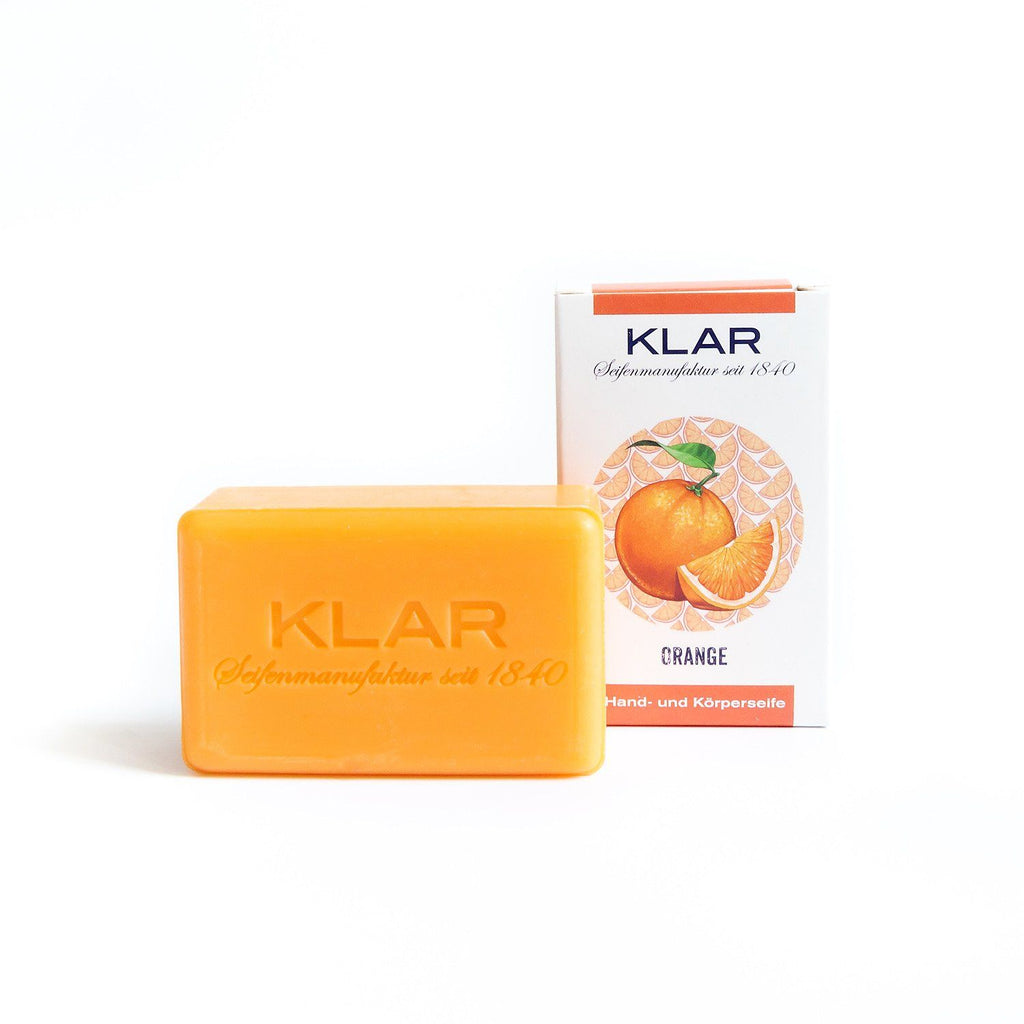 Klar's Classic Hand Size Soap, Palm Oil-Free Body Soap Klar Seifen Orange