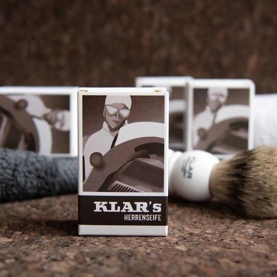 Klar's Classic Gentlemen's Hand Size Soap, Palm Oil-Free Body Soap Klar Seifen