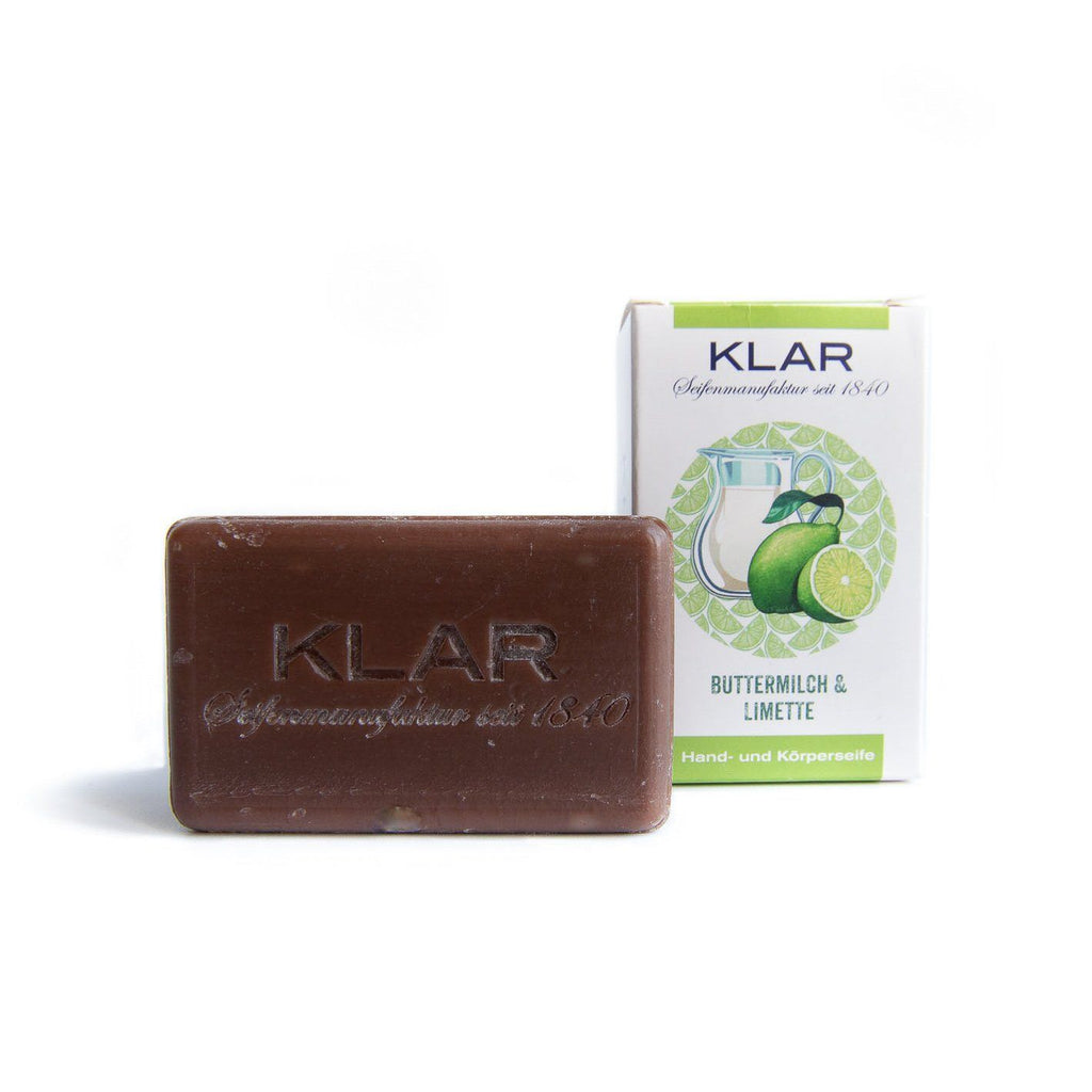 Klar's Classic Hand Size Soap, Palm Oil-Free Body Soap Klar Seifen Buttermilk & Lime