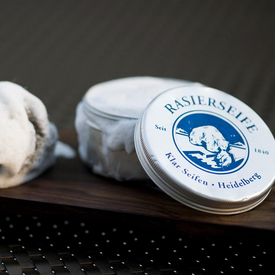 Klar's Shaving Soap in Tin, Sandalwood Shaving Soap Klar Seifen