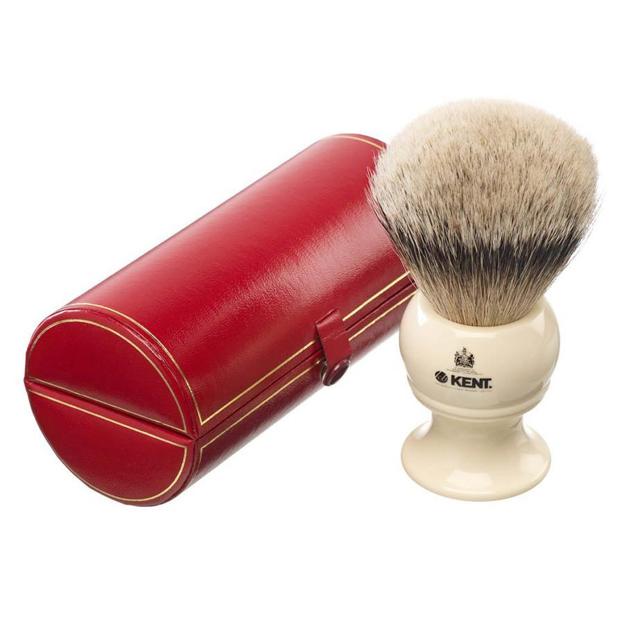 Kent BK12, Extra-Large Silvertip Shaving Brush Badger Bristles Shaving Brush Kent