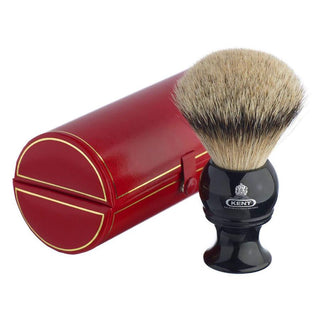 Kent BLK12, Extra-Large Silvertip Shaving Brush Badger Bristles Shaving Brush Kent