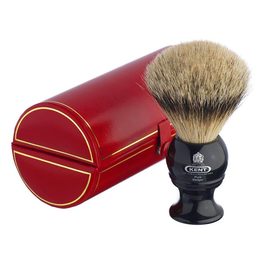 Kent BLK4, Medium Silvertip Shaving Brush Badger Bristles Shaving Brush Kent