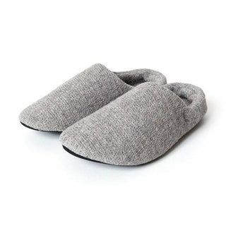 Lana Room Shoes, Grey Spa Slippers Japanese Exclusives
