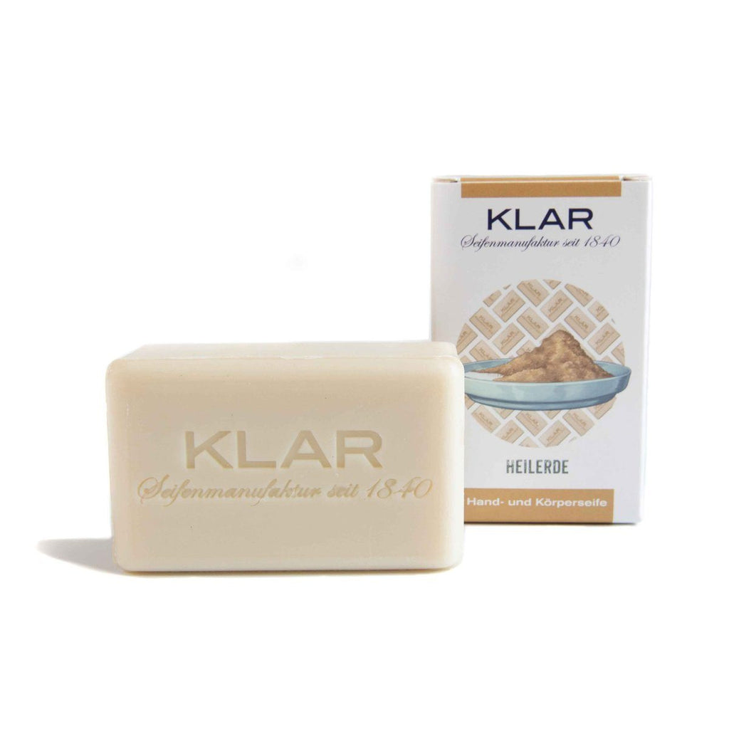 Klar's Classic Hand Size Soap, Palm Oil-Free Body Soap Klar Seifen Healing Earth