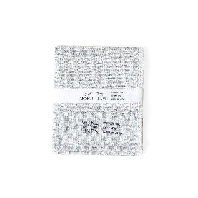 Kontex Moku Linen Towel, Charcoal Towel Japanese Exclusives Washcloth (40 x 33 cm)