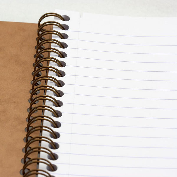 Clairefontaine Basics 6 x 8 Wirebound Notebook in Tan, Lined - Fendrihan Canada - 2