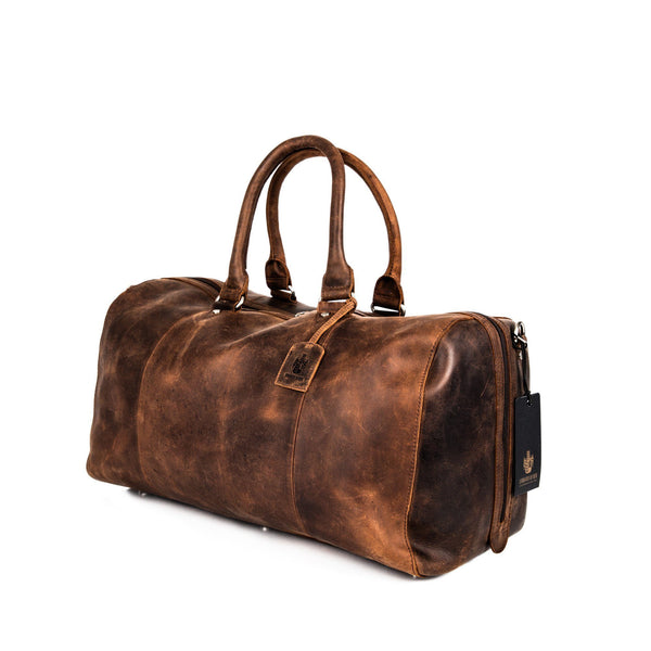 Leonhard Heyden Salisbury Travel Bag, Brown Leather - Fendrihan Canada - 1