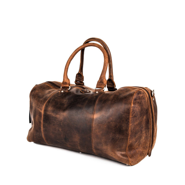 Leonhard Heyden Salisbury Travel Bag, Brown Leather - Fendrihan Canada - 5