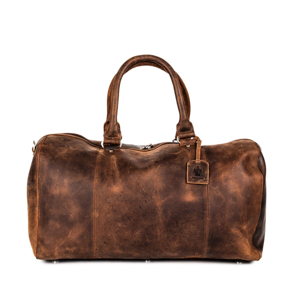 Leonhard Heyden Salisbury Travel Bag, Brown Leather - Fendrihan Canada - 2