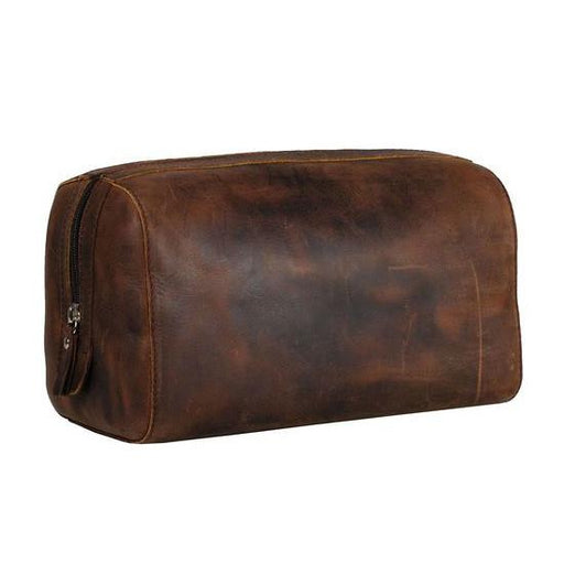 Leonhard Heyden Salisbury Toiletry Kit, Brown Leather - Fendrihan Canada