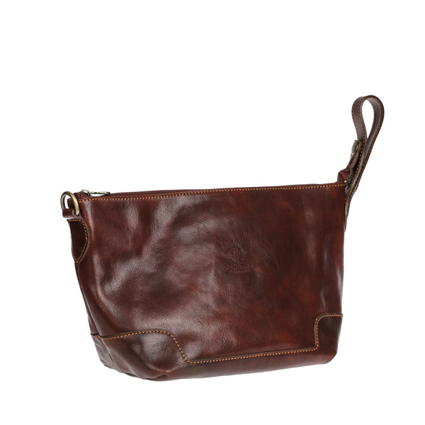 Manufactus Remo Leather Toiletry Bag, Chestnut