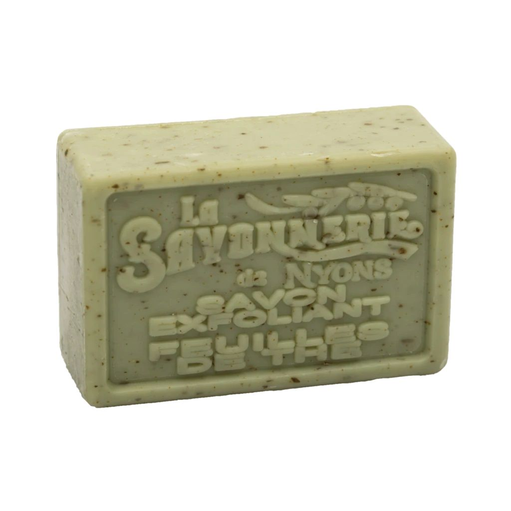 La Savonnerie de Nyons Exfoliating Soap Bar Body Soap La Savonnerie de Nyons Tea Leaf (Feuille Thé)