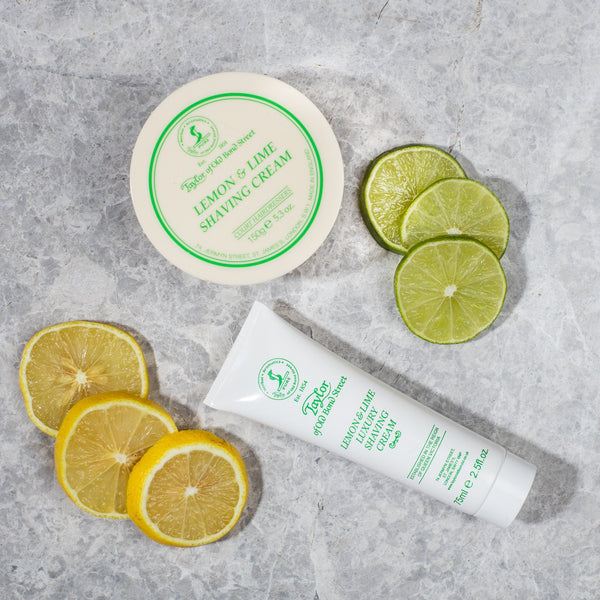 Taylor of Old Bond Street Classic Shaving Cream Travel Tube, Lemon and Lime
