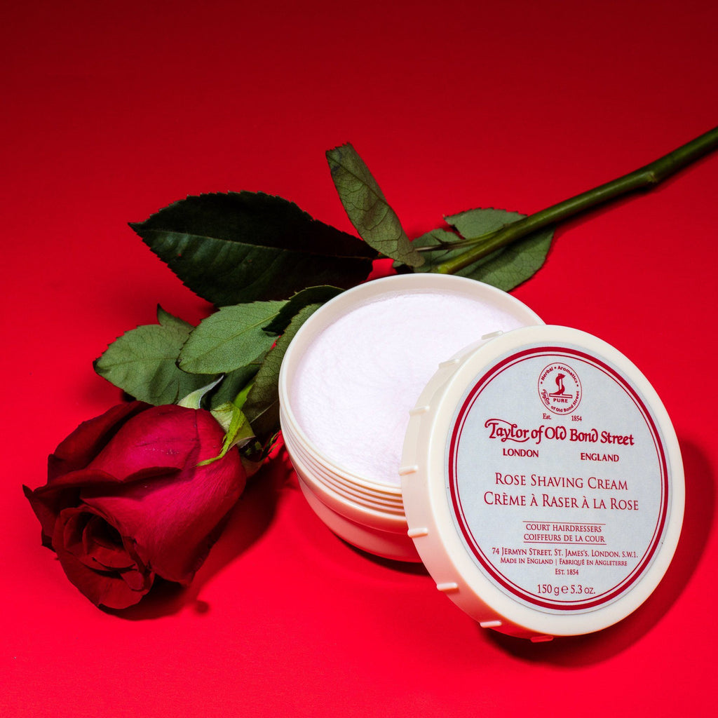 Taylor of Old Bond Street Shaving Cream Bowl, Rose Shaving Cream Taylor of Old Bond Street