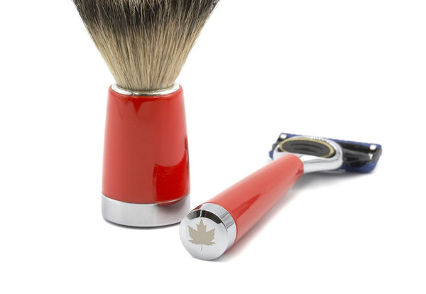 """True North"" 3-Piece Shaving Set with Gillette Fusion Razor and Silvertip Badger Brush - Fendrihan Canada - 2"
