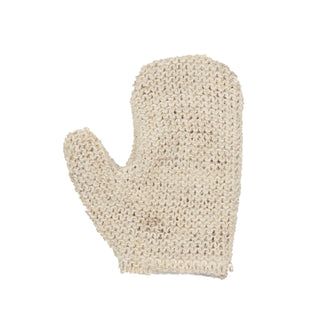 MAGIT Horsehair Mitt, Made in Italy Body Exfoliating Mitt MAGIT White