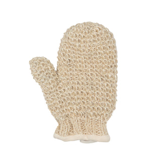 MAGIT Cotton Lined Horsehair Mitt, Handmade in Italy Body Exfoliating Mitt MAGIT White