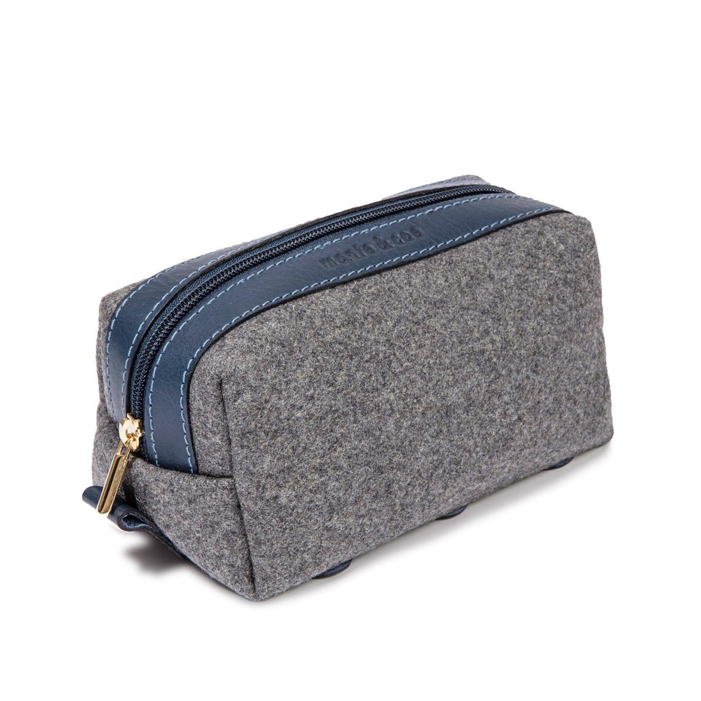 monte & coe Wool Travel Kit Toiletry Bag monte & coe Grey/Navy