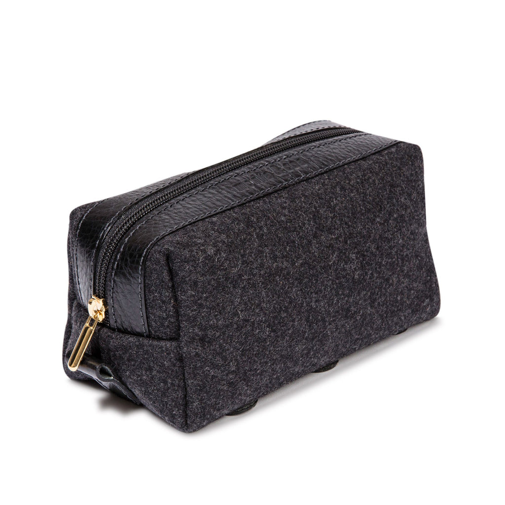 monte & coe Wool Travel Kit Toiletry Bag monte & coe Black/Black