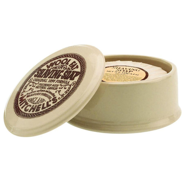 Mitchell's Wool Fat Luxury Shaving Soap in Ceramic Bowl - Fendrihan Canada - 2