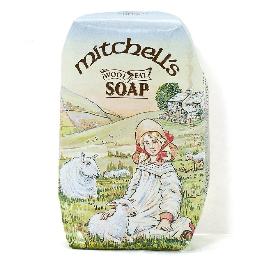 Mitchell's Country Scene Wool Fat Soap, Bath Size Body Soap Mitchell's Wool Fat