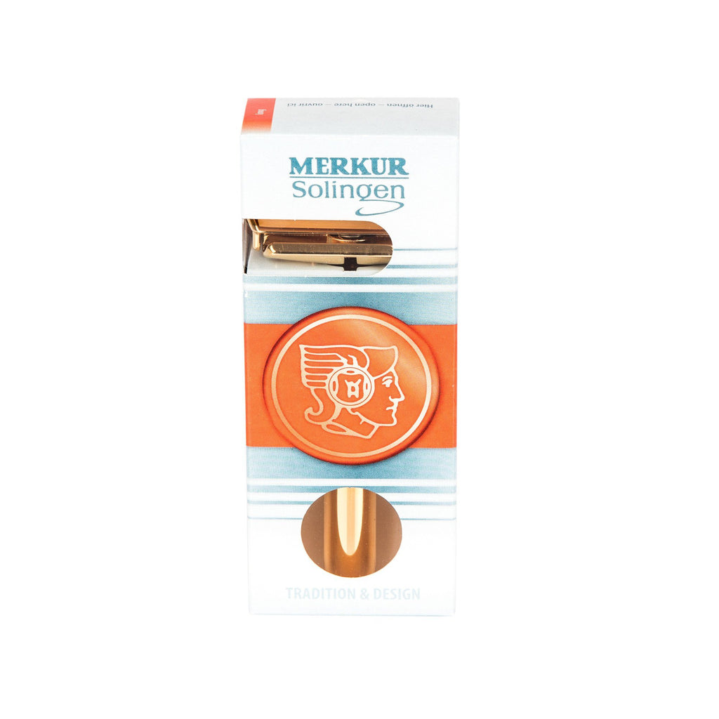 Merkur Futur Adjustable Safety Razor, Gold Plated Finish Double Edge Safety Razor Merkur