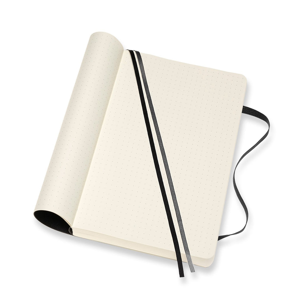 Moleskine 5 x 8 Soft Cover Classic Expanded Notebook in Black Notebook Moleskine