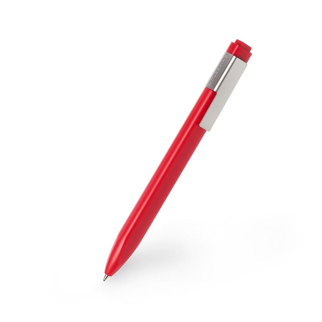 Moleskine Classic Click Ball Pen, Medium Tip Ball Point Pen Moleskine Red