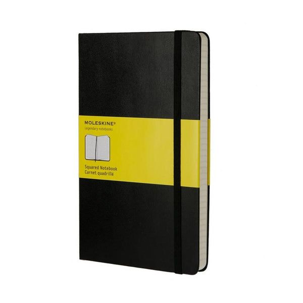 Moleskine 5 x 8 Hard Cover Notebook in Black, Squared - Fendrihan Canada - 1