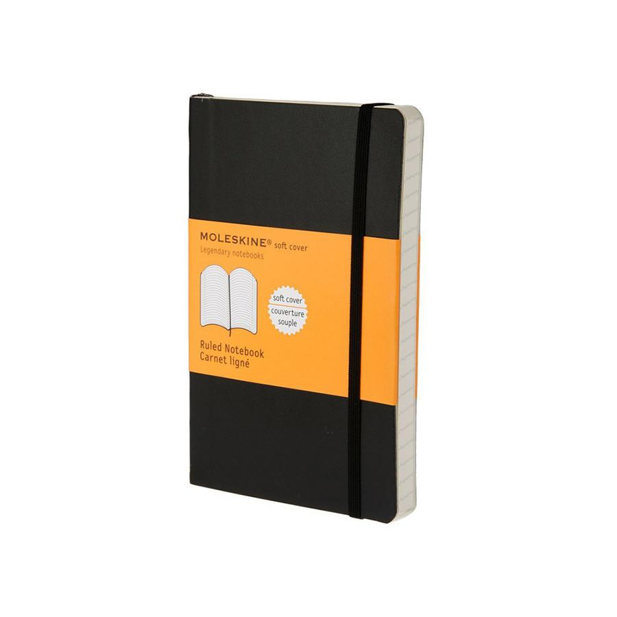 Moleskine 3.5 x 5.5 Soft Cover Pocket Notebook in Black, Lined - Fendrihan Canada - 1