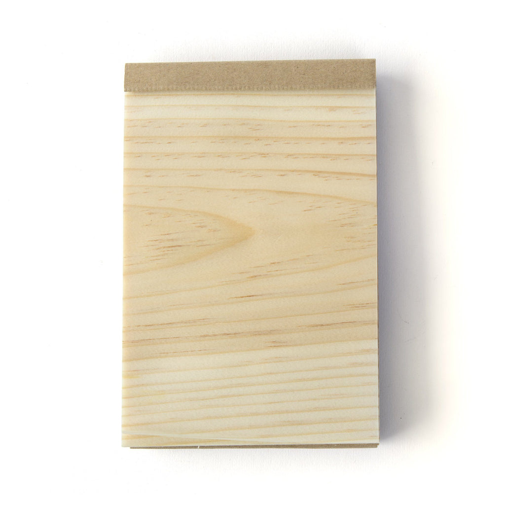 Kizara Wood Sheet Memo Pad Notebook Japanese Exclusives
