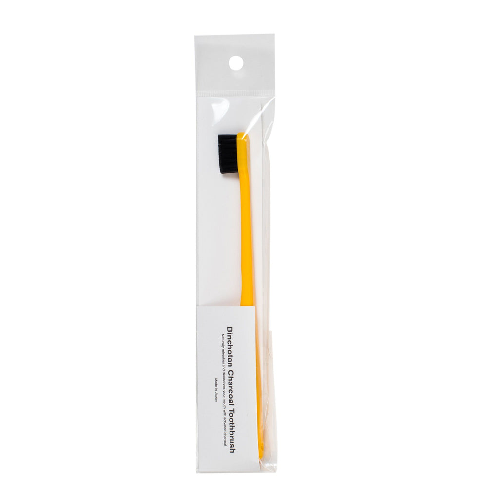 Japanese Binchotan Charcoal Toothbrush Toothbrush Binchotan Charcoal Yellow