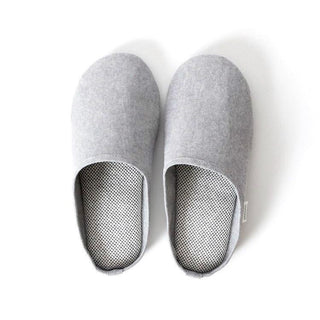 Sasawashi Room Shoes, Grey Spa Slippers Japanese Exclusives