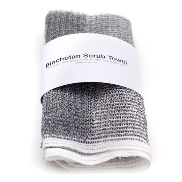Japanese Binchotan Charcoal Body Scrub Towel Fendrihan