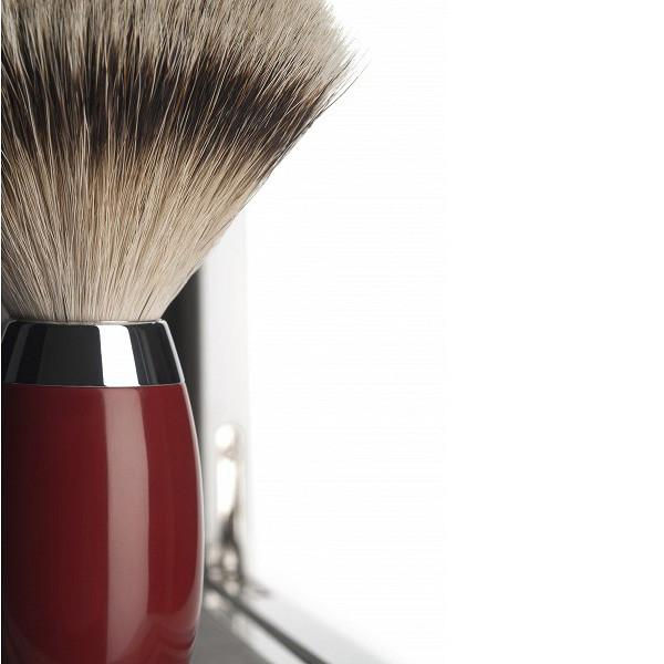 Muhle Edition No. 2 Silvertip Shaving Brush, Chinese Lacquer Handle - Fendrihan Canada - 2