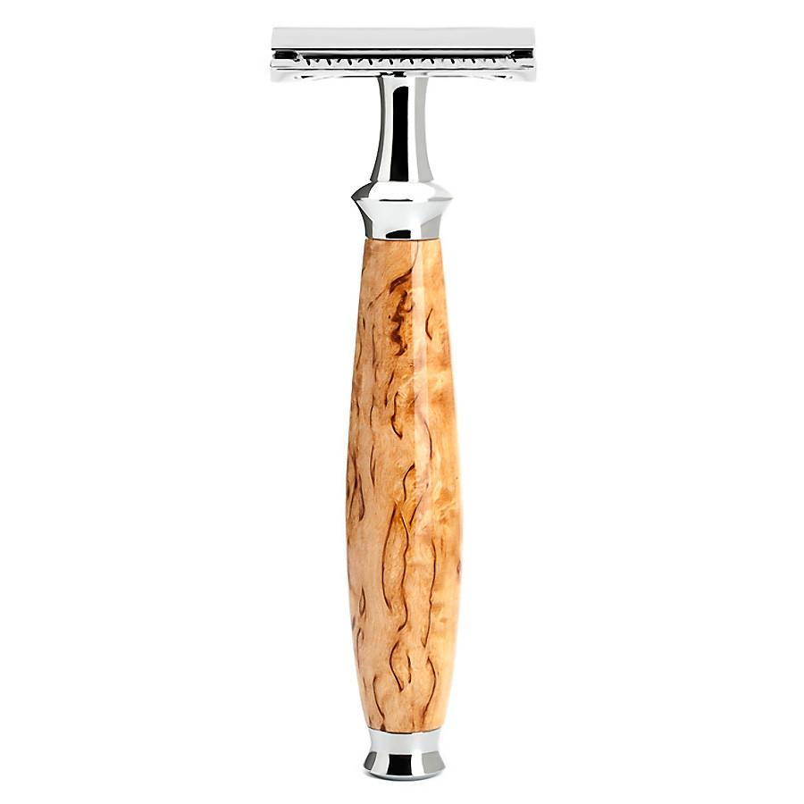 Muhle Purist R55 Double-Edge Classic Safety Razor, Karelian Burl Birch Wood - Fendrihan Canada