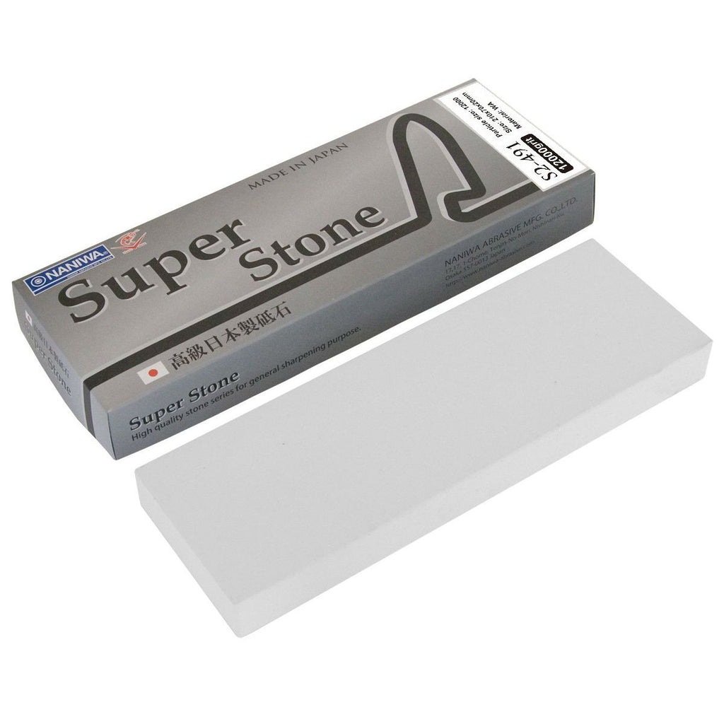 "Naniwa ""Super Stone"" Waterstone Hone, 12000 Grit Sharpening Stone Naniwa S2 Super Stone: 20 mm"