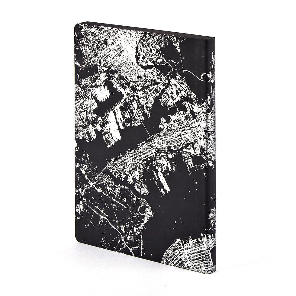 Nuuna Nightflight L Light Notebook, NYC Silver Notebook Nuuna