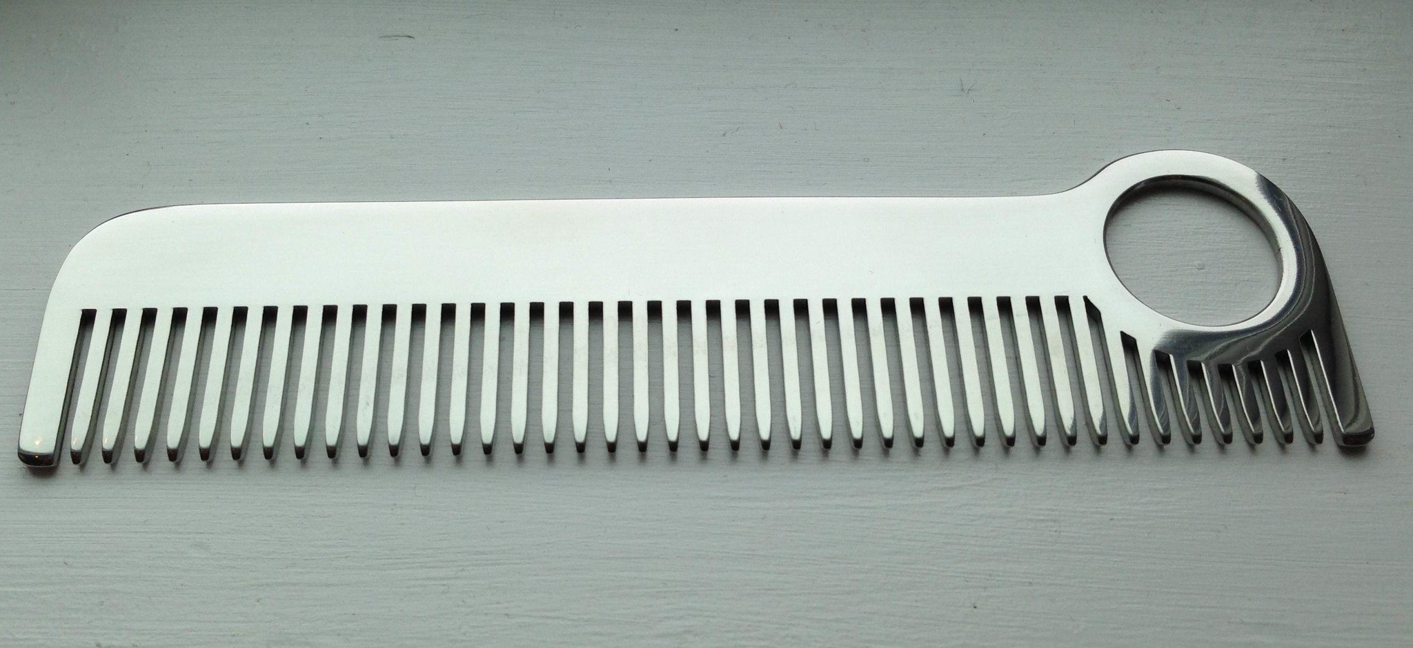 Chicago Comb Co. Model No. 1 Stainless Steel Medium-Fine Tooth Comb Comb Chicago Comb Co Mirror