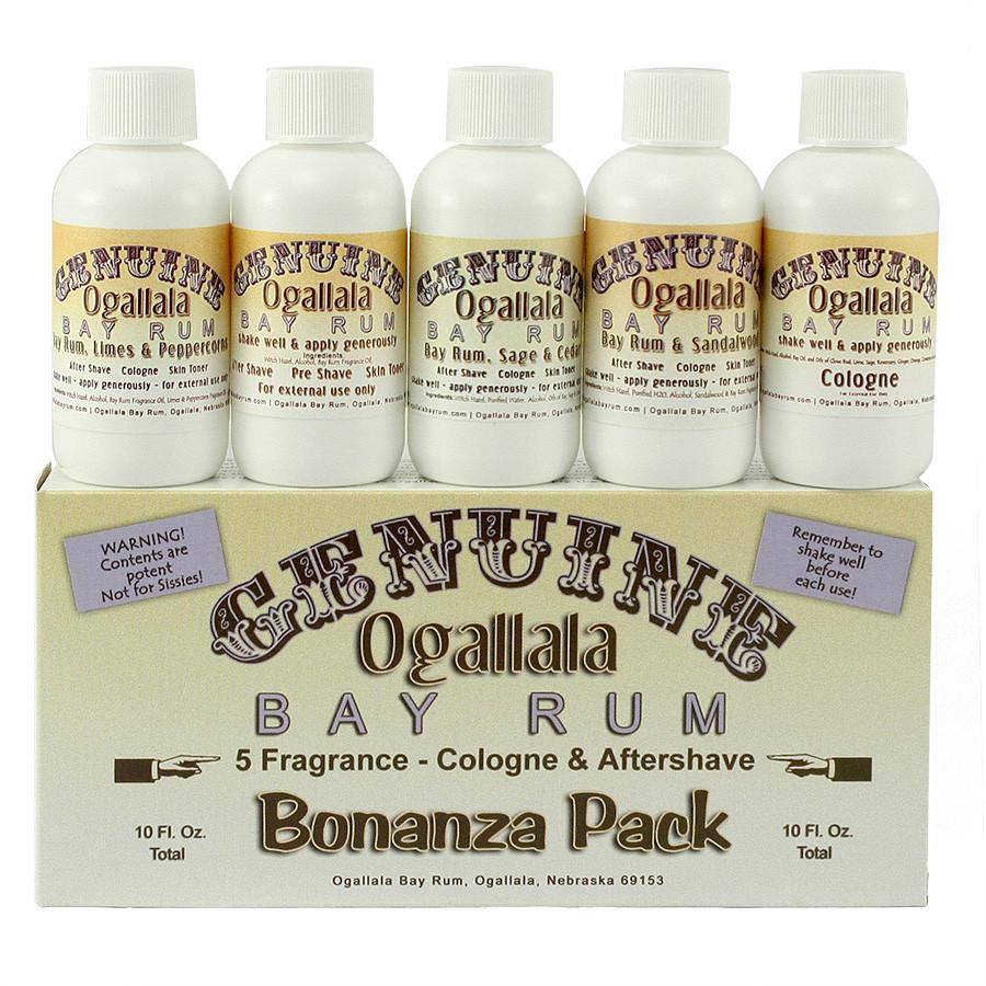 Ogallala Bay Rum Bonanza Cologne and Aftershave Sampler Pack Aftershave Ogallala Bay Rum