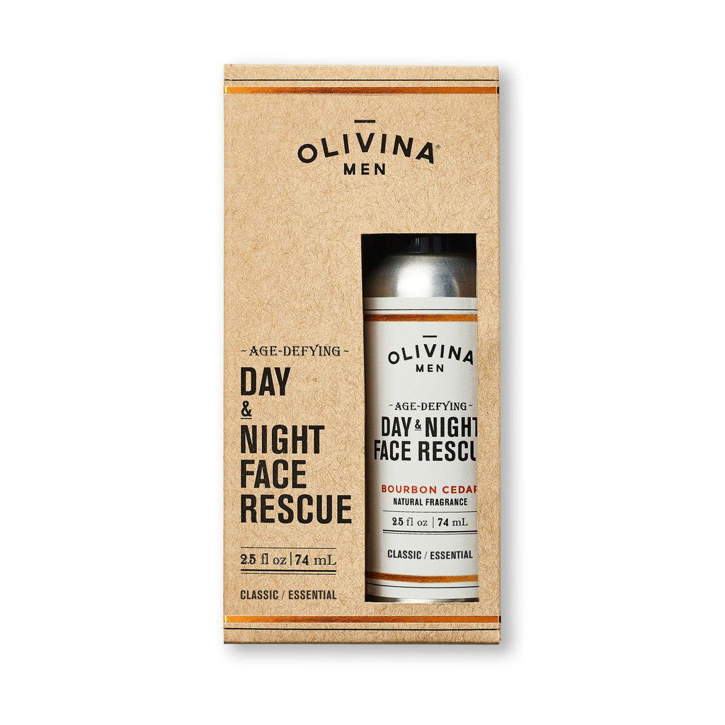 Olivina Men Age-Defying Day & Night Face Rescue Face Moisturizer and Toner Olivina Men