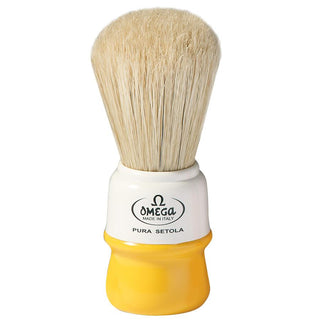 Omega 10015 Boar Bristle Shaving Brush Boar Bristles Shaving Brush Omega Yellow