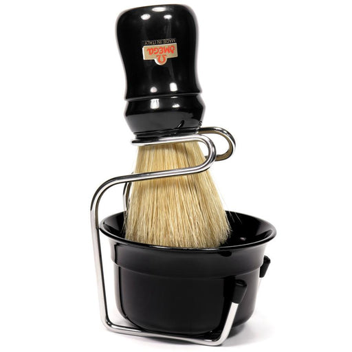 Omega 49.18 Pure Bristle Shaving Brush with Bowl and Stand