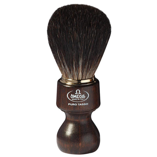 Omega 6126 Pure Badger Shaving Brush, Ovangkol Wood Handle